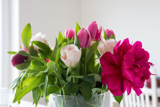 flowers peony tulips roses bouquet colorful bouquet of flowers pink 877986.jpgs