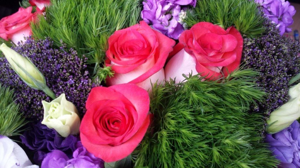 Entrega de ramos de flores ao domicilio